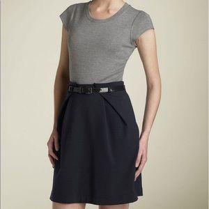 Theory Sz 2 Ciarah Craze Dress Black Gray Sheath